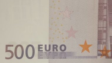 The back detail of the 500 Euro bill — Stock Video