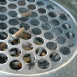 A cigarette bin or ahstray with lots of cigs inside FS700 4K — Stock Video #60503987