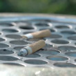 Close up view of the cigarette butt on the bin FS700 4K — Stock Video #60504041