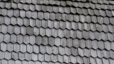 The wooden shingles from the wooden roof of a church FS700 4K — Stock Video