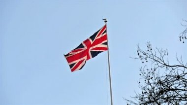 Waving flag of England — Stock Video