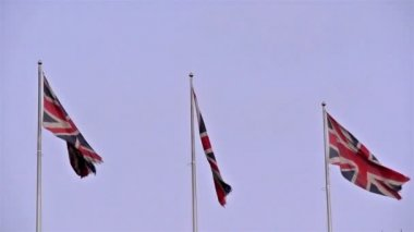 Waving flags of England — Stock Video
