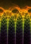 Oeuvre de fractales générées par ordinateur — Photo