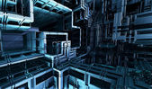 Computer rendered virtual scenery — Stock Photo