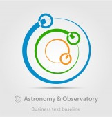 Astronomy and observatory business icon — Stock Vector