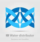 Water distributor business icon — Stock Vector