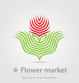 Flower market business icon — Stock Vector