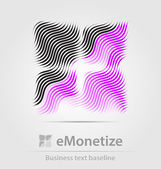 EMonetize business icon — Vector de stock
