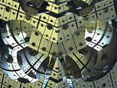 Computer weergegeven virtueel platform — Stockfoto