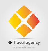 Travel agency business icon — Stock Vector