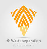 Waste separation business icon — Stock Vector