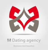 Dating agency business icon — Stock Vector