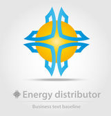 Energy distributor business icon — Stock Vector