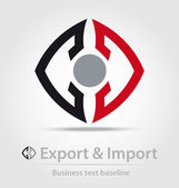 Export and import business icon — Vector de stock
