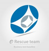 Rescue team business icon — Stock Vector