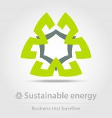 Sustainable energy business icon — Stock Vector
