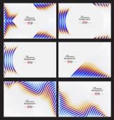 Elegant business card design template — Stock Vector