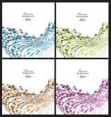Resumen de antecedentes coloridos — Vector de stock