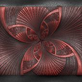 Luxury background with embossed pattern on leather — Stock Photo