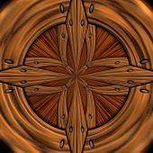 Fond de luxe avec motif en relief sur bois — Photo