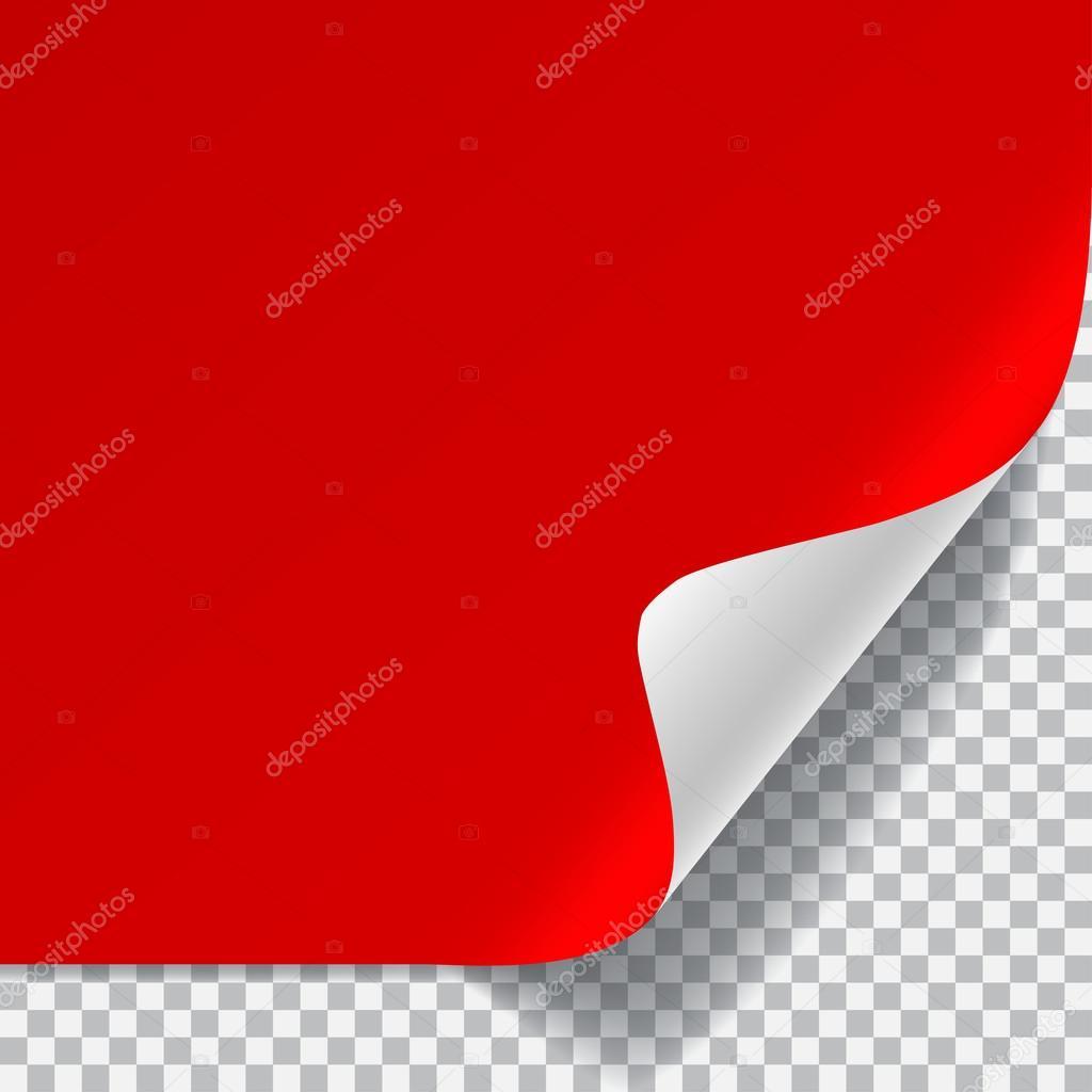 Красный лист бумаги фото