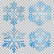 Set of transparent snowflakes — Stock Vector #53259391