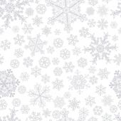 Christmas seamless pattern of snowflakes — Stockvector