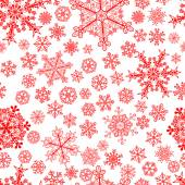 Christmas seamless pattern of snowflakes — Stock Vector