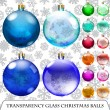 Set of transparent Christmas balls — Stock Vector #53821329