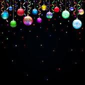 Christmas background with Christmas balls — Stock Vector
