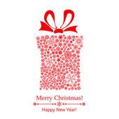 Christmas gift box of snowflakes — Stock Vector