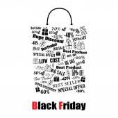 Black Friday shopping bag — Stock Vector