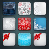 Apps Christmas icon set — Stock Vector