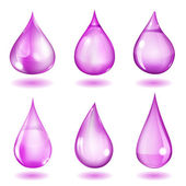 Opaque violet drops — Stock Vector