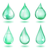 Opaque turquoise drops — Stock Vector