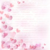 Background with pink hearts — Stock Vector
