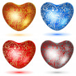 Set of shiny hearts with curls — Stock Vector #61512029