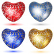 Set of shiny hearts with curls — Stock Vector #61512037