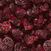 бесшовный фон сердец — Cтоковый вектор