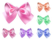 Set of colored bows — Stock Vector