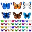 Set of colorful butterflies — Stock Vector #64129777