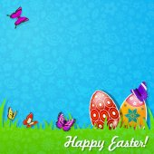 Easter background made of paper — Stock Vector
