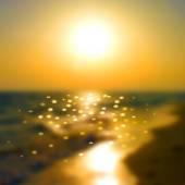Sunset on the sea — Stock Vector