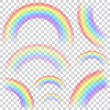 Set of transparent rainbows — Stock Vector #66612057
