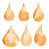 Abstract orange drops consisting of triangles — Stock Vector