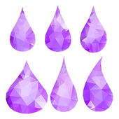 Abstract violet drops consisting of triangles — Stock Vector