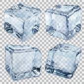 Transparent light blue ice cubes — Stock Vector