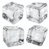 Opaque gray ice cubes — Stock Vector
