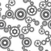 Seamless pattern of gear wheels — Stock Vector