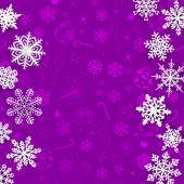 雪片紙とクリスマスの背景 — ストックベクタ